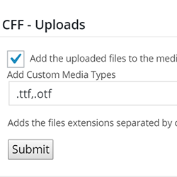 Upload Files Add-On