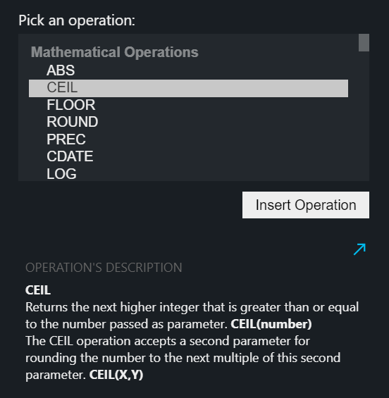 Operations List