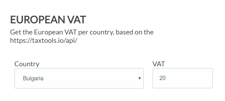 European VAT Form