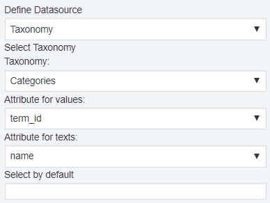 Taxonomy Datasource
