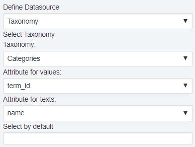 Taxonomy Datasource