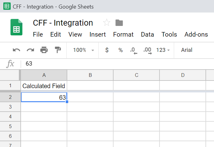 Google Sheets Document
