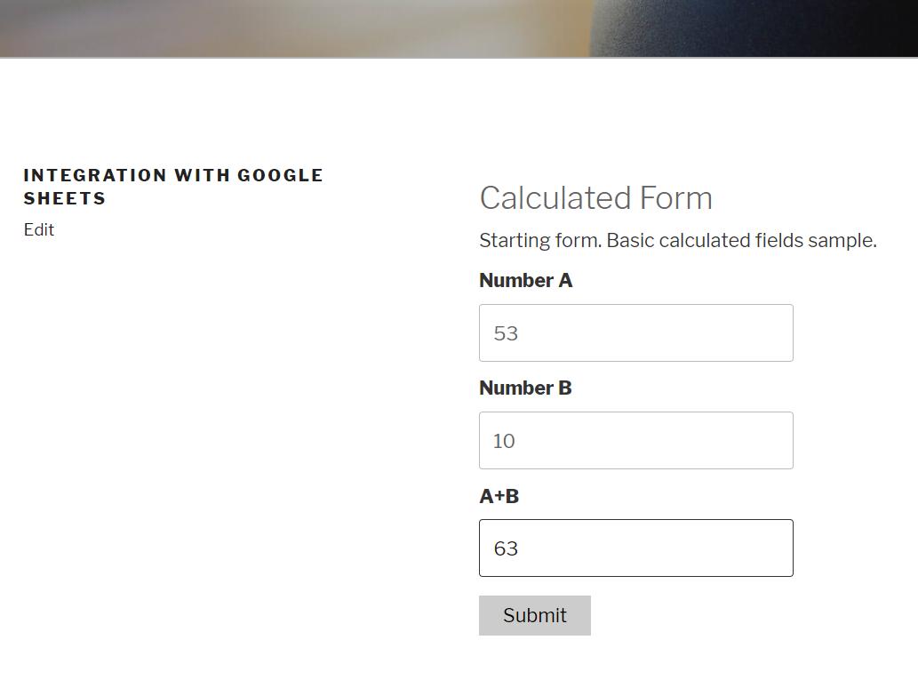 Public Form